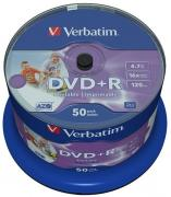 DVD+R Wide Inkjet Printable 16x 4.7GB - 50 Pack Spindle Optical Media