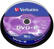 DVD+R Matt Silver 16x 4.7GB - 10 Pack Spindle Optical Media
