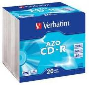 CD-R AZO Crystal  52x 700 MB - 20 Pack Jewel Case Optical Media