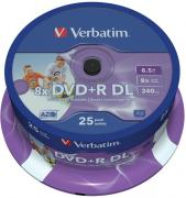 DVD+R Double Layer Inkjet Printable 8x 8.5GB - 25 Pack Spindle Optical Media
