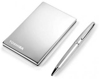 StorE Steel 160GB Ultra-Mobile External Hard Drive - Titanium