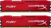 Hyper-X Fury 2 x 4GB 1866Mhz DDR3 Desktop Memory Kit - Red (HX318C10FRK2/8)