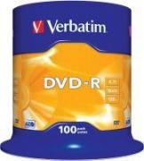 DVD-R Matt Silver 16x 4.7GB - 100 Pack Spindle Optical Media
