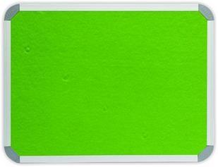 900 x 600mm  Aluminium Frame Felt Info Board - Lime Green