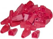 CAT5 RJ45 Boot Sleeves - 50 Pack - Red
