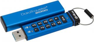 DataTraveler 2000 64GB Flash Drive - Blue