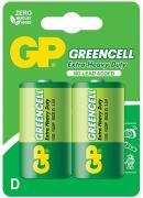 Greencell Carbon Zinc 13G R20P D-Size Batteries