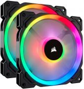 LL140 Twin Pack 140mm Chassis Fan - RGB LED