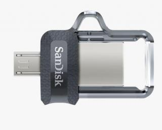 Ultra Dual Drive M3.0 128GB OTG Flash Drive - Grey & Silver