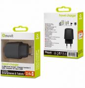 MVTMUPAK0267 2.4A Micro-USB Wall Charger for Smartphones & Tablets