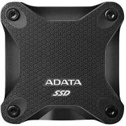 ASD600Q 480GB Portable External Solid State Drive - Black