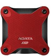 ASD600Q 240GB Portable External Solid State Drive - Black & Red