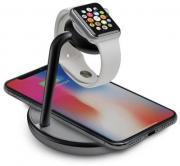 GoPower Watch Stand with Wireless Charging Base for Apple Watch and iPhone