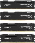 HyperX Fury Black 4 x 16GB 2666MHz DDR4 Desktop Memory Kit (HX426C16FBK4/64)