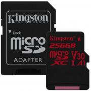 Canvas React 256GB U3 UHS-I V30 microSDHC Memory Card with SD Adapter