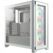 iCUE 4000X RGB Tempered Glass Mid Tower ATX Chassis - White